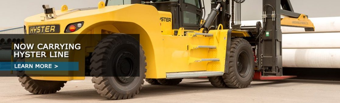 Now carrying Hyster line